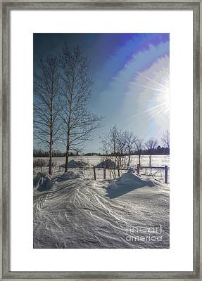 Windswept Sunrise Framed Print by The Stone Age