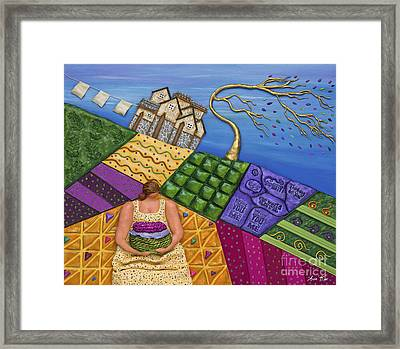 Framed Print featuring the sculpture Windswept Whimsy by Anne Klar