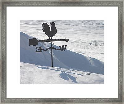 Windvane After Snowstorm Framed Print by Wayne Williams