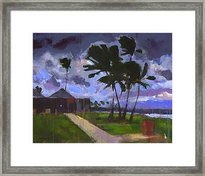 Windward Stormclouds Framed Print by Douglas Simonson