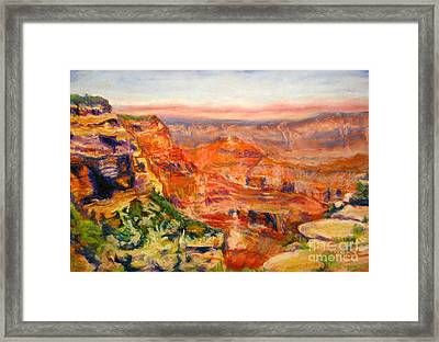 Windy Afternoon Below Cape Royal Framed Print by Katrina West