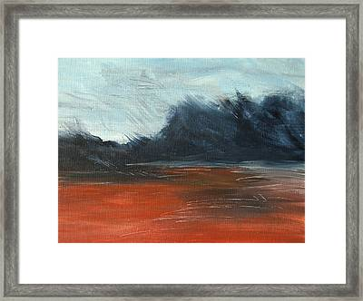 Framed Print featuring the painting Windy Beach by Jani Freimann