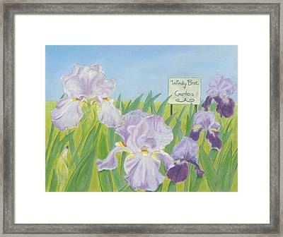 Framed Print featuring the painting Windy Brae Gardens by Arlene Crafton
