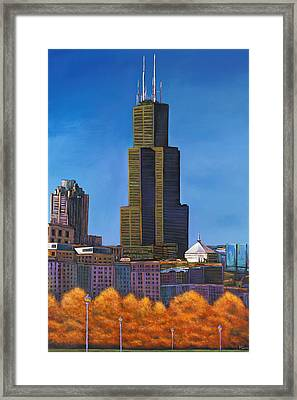 Windy City Autumn Framed Print by Johnathan Harris