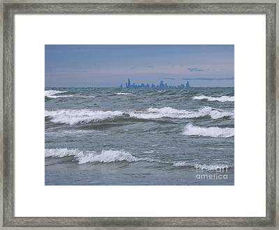 Windy City Skyline Framed Print