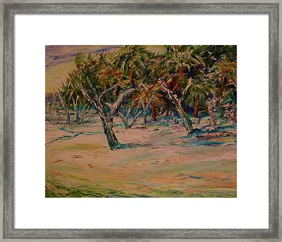 Windy Day At Botany Island Framed Print