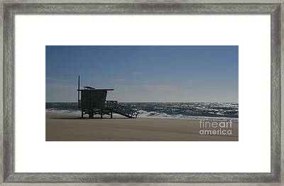 Windy Day At Zuma Framed Print by Ian Donley