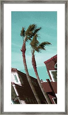 Windy Day By The Ocean  Framed Print by Ben and Raisa Gertsberg