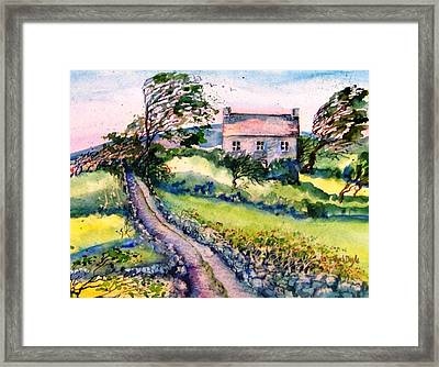 Windy Day Clear Island  Framed Print by Trudi Doyle