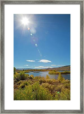 Windy Gap Reservoir Framed Print by Jim West/science Photo Library