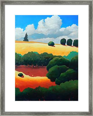 Windy Hill Trip Panel 3 Framed Print