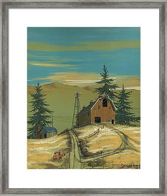 Windy Knoll Framed Print by John Wyckoff