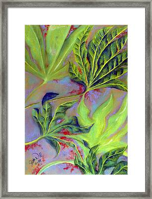 Framed Print featuring the pastel Windy by Susan Will