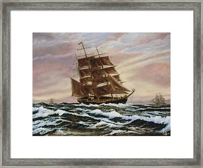 Framed Print featuring the painting Windy Voyage by Rick Fitzsimons