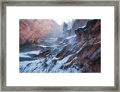 West Fork Windy Winter Framed Print