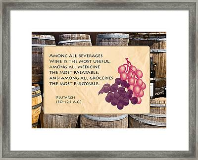 Wine - Best Medicine Framed Print