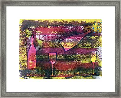 Wine - 1720 Framed Print by Richard Sean Manning