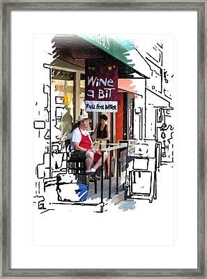 Wine A Bit Framed Print by John Haldane