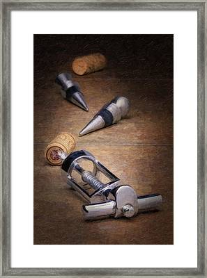 Wine Accessory Still Life Framed Print