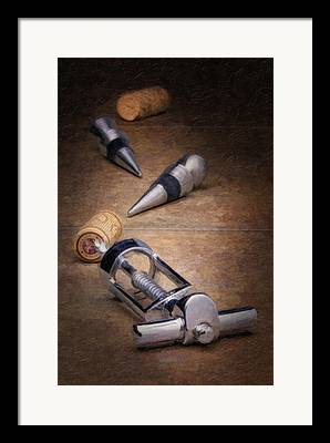Wine Accessories Framed Prints