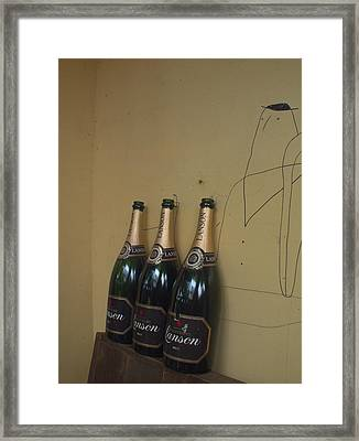 Framed Print featuring the photograph Wine And A Man by Rachel Mirror