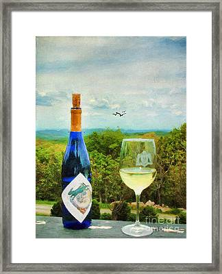 Wine And A View Framed Print by Darren Fisher