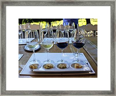 Wine And Cheese Tasting Framed Print