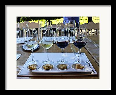 Wine Paring Framed Prints