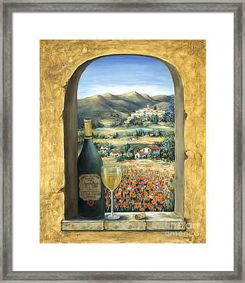 Wine And Poppies Framed Print