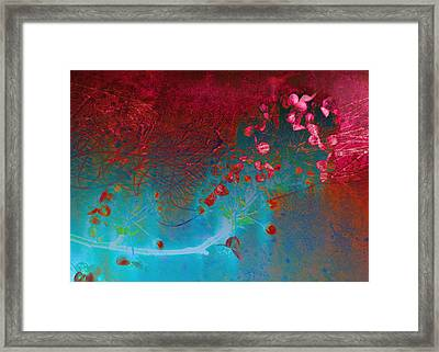 Wine And Roses Framed Print by Ann Powell