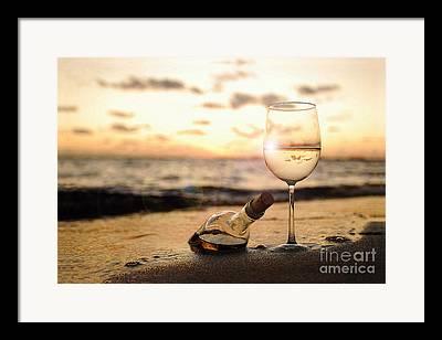 Vineyard In Napa Framed Prints