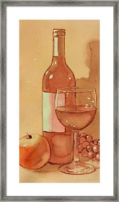 Wine And Sunshine One Framed Print