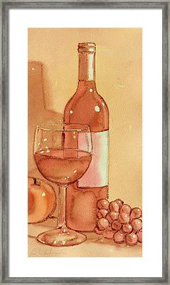Wine And Sunshine Two Framed Print