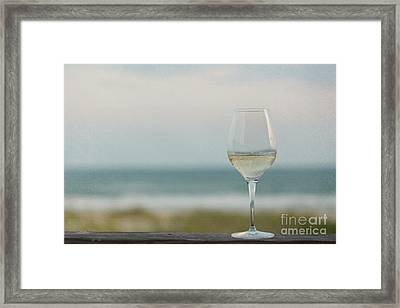Wine At The Beach Framed Print by Kay Pickens