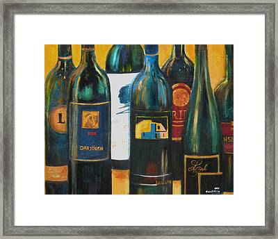 Wine Bar Framed Print