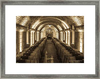 Wine Barrel Barrage Framed Print by Preston Fiorletta
