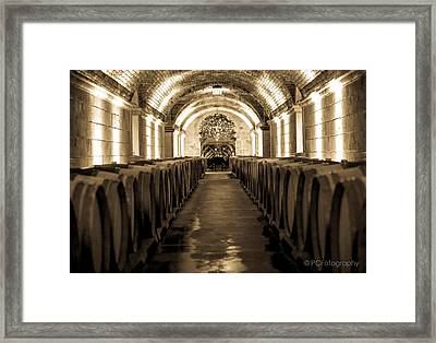 Wine Barrel Boulevard Framed Print by Preston Fiorletta