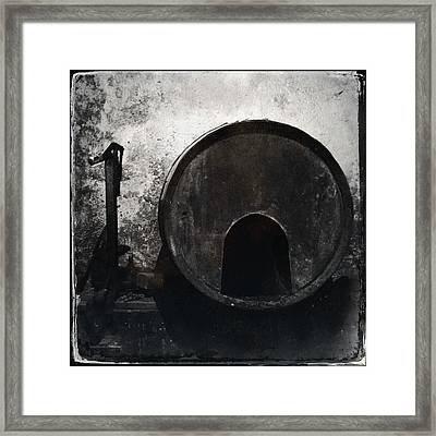 Wine Barrel Framed Print by Marco Oliveira
