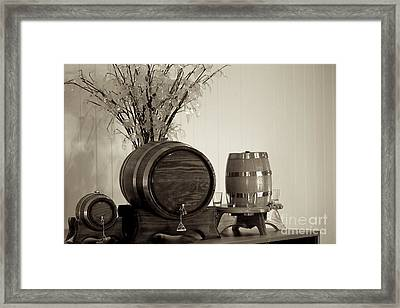 Wine Barrels Framed Print by Alanna DPhoto