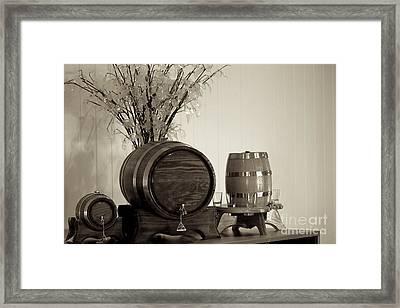 Wine Barrels Framed Print by Alanna DPhoto
