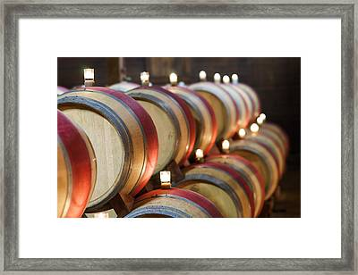 Wine Barrels Framed Print by Francesco Emanuele Carucci