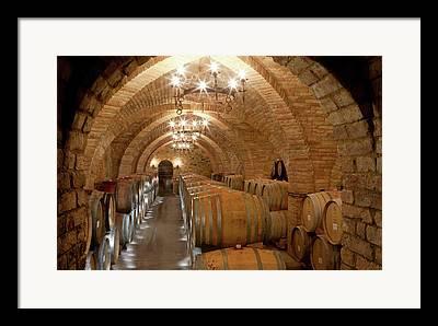 Wine Vault Photographs Framed Prints