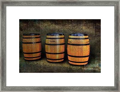 Wine Barrels Framed Print by Kaye Menner