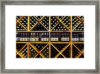 Wine Bottle Abstract Framed Print by Frozen in Time Fine Art Photography