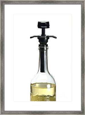 Wine Bottle Air Extractor Pump Framed Print by Martyn F. Chillmaid