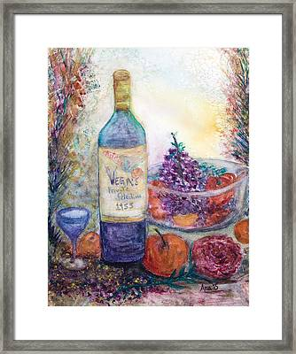 Wine Bottle Selection  Framed Print by Anais DelaVega