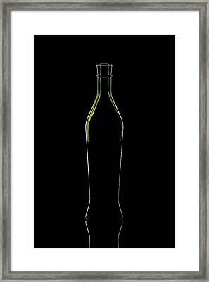 Wine Bottle Silhouette Framed Print by Alex Sukonkin