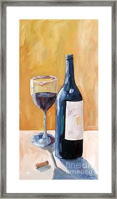 Wine Bottle Still Life Framed Print by Todd Bandy