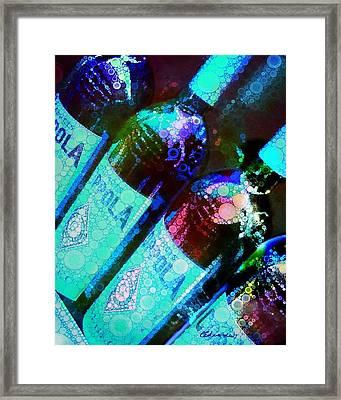 Wine Bottles Framed Print