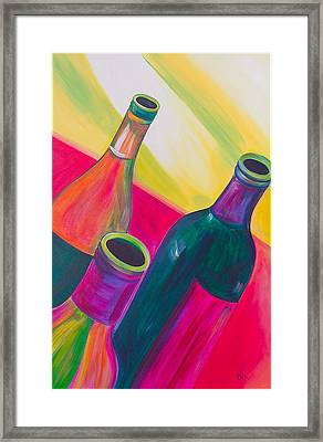 Wine Bottles Framed Print by Debi Starr